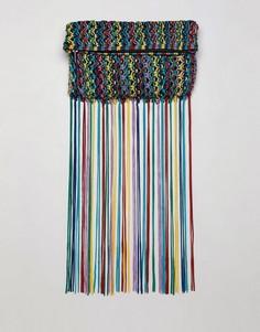 Клатч с разноцветными кисточками ASOS DESIGN - Мульти
