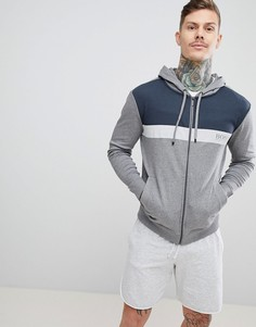 Куртка на молнии с капюшоном BOSS - Серый