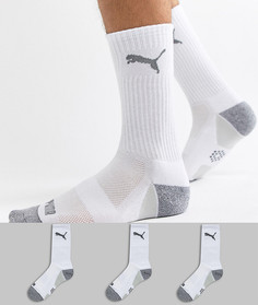 3 пары белых носков Puma Golf Pounce 89758001 - Белый