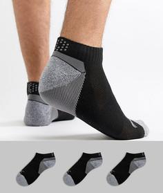 3 пары черных носков Puma Golf Pounce 89757902 - Черный
