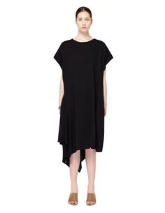 Асимметричное шерстяное платье Yohji Yamamoto