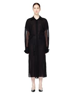 Черное платье-рубашка Ann Demeulemeester