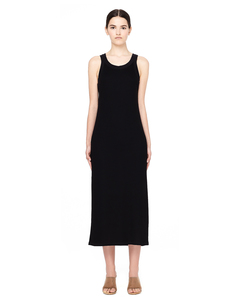 Черное платье-майка в пол The Row
