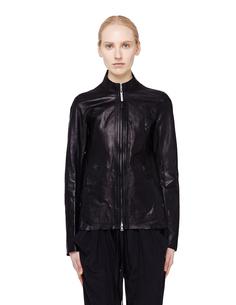 Черная кожаная куртка Isaac Sellam