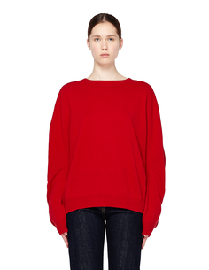 Красный шерстяной свитер Haider Ackermann