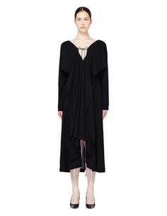 Шерстяное платье с открытой спиной Yohji Yamamoto
