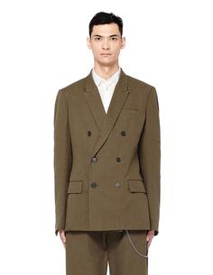 Двубортный хлопковый пиджак Haider Ackermann