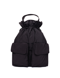 Черная сумка-рюкзак на кулиске Y`s