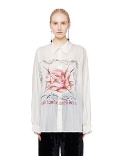 Шелковая рубашка Rose And Thorns Enfants Riches Deprimes