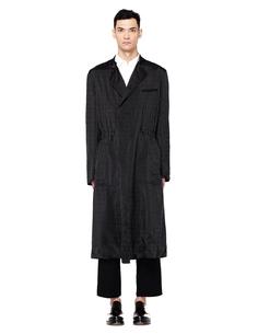 Черное пальто в полоску Haider Ackermann