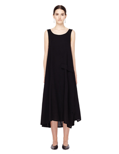 Асимметричное черное платье Yohji Yamamoto
