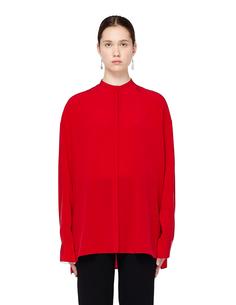 Красная шелковая блузка Haider Ackermann