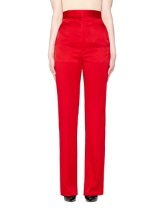 Красные брюки со стрелками Haider Ackermann