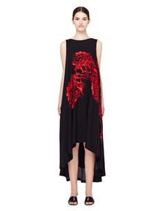 Черное платье с принтом Yohji Yamamoto