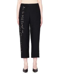 Льняные брюки с принтом Yohji Yamamoto