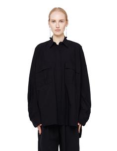 Оверсайз черная хлопковая блузка Urban Zen