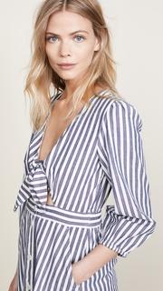 Madewell Shimmer Stripe Cutout Midi Dress