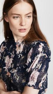 Rebecca Taylor Magnolia Ruffle Top