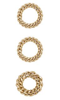 Кольца chain link - joolz by Martha Calvo