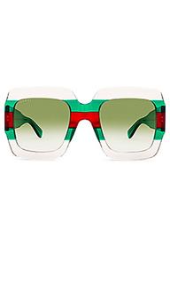 Солнцезащитные очки square frame acetate - Gucci