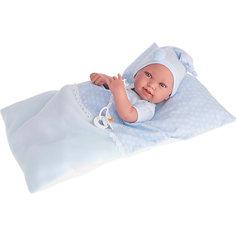 Кукла-младенец Пипо (мальчик) в голубом, 42 см, Munecas Antonio Juan