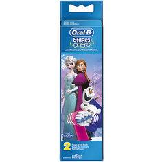 """Насадки для электрической зубной щетки Oral-B Stages Power  EB10K """"Frozen"""" 2шт"""