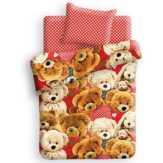 Детское постельное белье 1,5 сп. 4YOU, 3D Плюшевые мишки