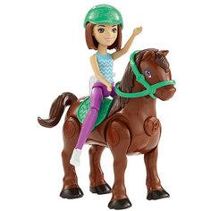 """Игровой набор с мини-куклой Barbie """"В движении"""" Пони и кукла в зелёном шлеме Mattel"""
