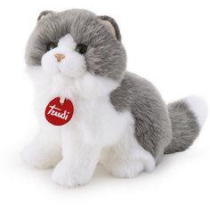Мягкая игрушка Trudi Серо-белая кошка Клотильда, 24 см сидячая