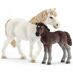 """Коллекционные фигурки Schleich """"Лошади"""" Кобыла пони и жеребенок"""
