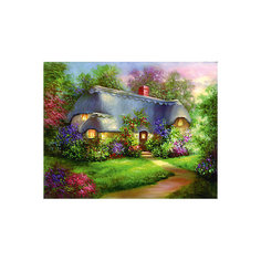 """Картина по номерам на холсте Гризайль Royal&Langnickel """"Очаровательный домик"""", 28х35 см Royal&Langnickel"""