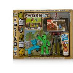 """Игровой набор Zing """"Stikbot"""" Студия с питомцем, Человечек с голубой кошкой"""