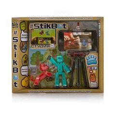 """Игровой набор Zing """"Stikbot"""" Студия с питомцем, Человечек с красной собакой"""