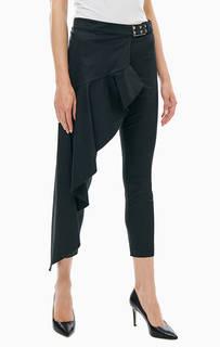 Черные зауженные брюки с дополнительным шлейфом Patrizia Pepe