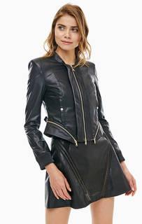 Черная куртка со съемной нижней частью Patrizia Pepe