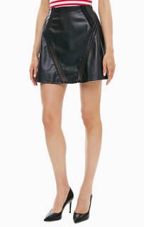 Короткая расклешенная юбка черного цвета Patrizia Pepe