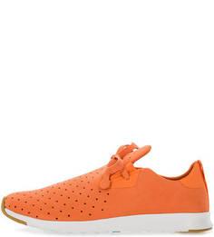 Оранжевые кроссовки с перфорацией Native