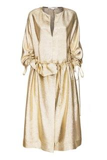 Блестящее золотистое платье Stella Mc Cartney