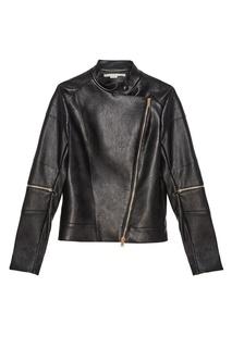 Кожаная куртка с косой молнией Stella Mc Cartney