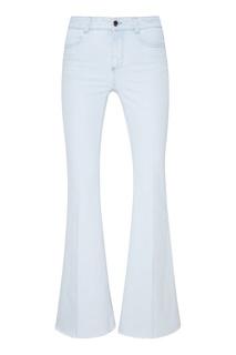 Голубые джинсы с бахромой Stella Mc Cartney