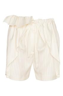 Шелковые белые шорты Stella Mc Cartney