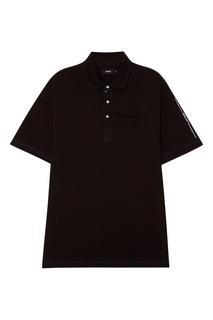 Черная рубашка-поло из хлопка 51 Percent