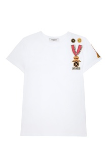 Белая футболка с аппликацией Valentino