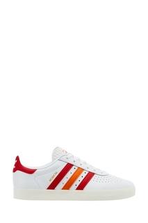 Белые кожаные кроссовки Adidas 350