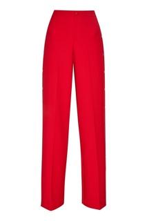 Красные брюки с декоративными кнопками RED Valentino