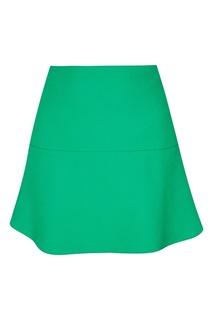 Короткая зеленая юбка RED Valentino