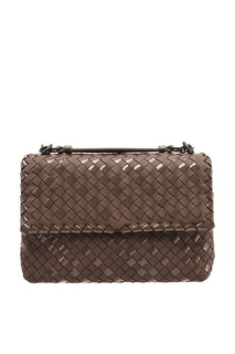 Серая плетеная сумка Bottega Veneta