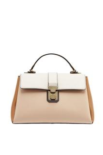Кожаная сумка с цветными вставками Bottega Veneta