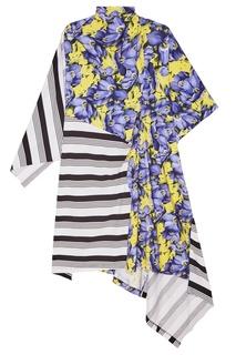 Платье с комбинированным дизайном Balenciaga