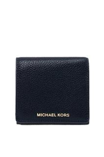 Синий кожаный кошелек Money Pieces Michael Kors